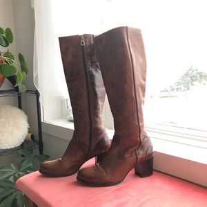 ZINDA tall knee high leather boots for fall